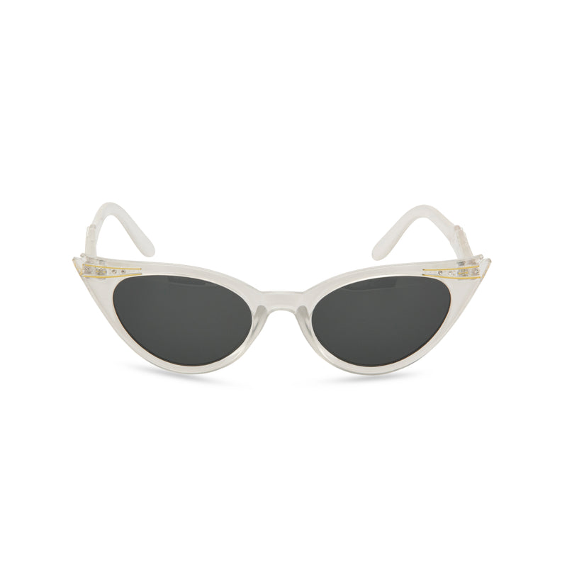 Retropeepers Betty cat eye sunglasses pearl - front view