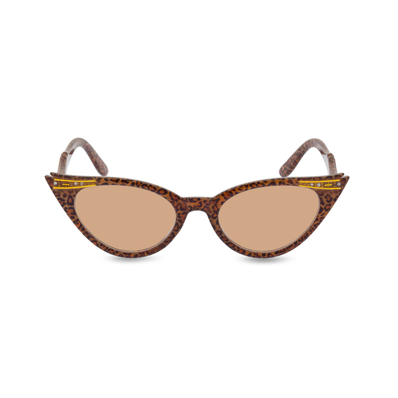 Betty sunglasses Jaguar brown front