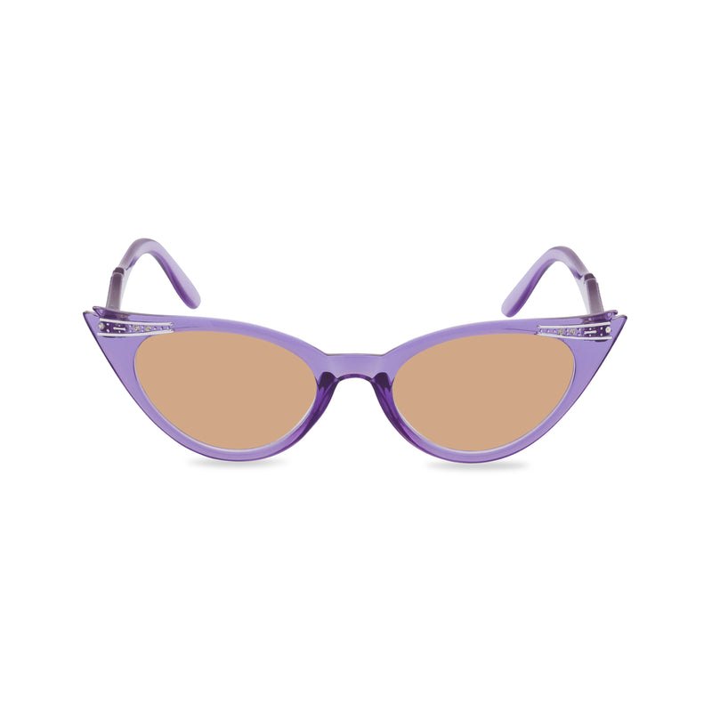 Betty sunglasses violet brown front