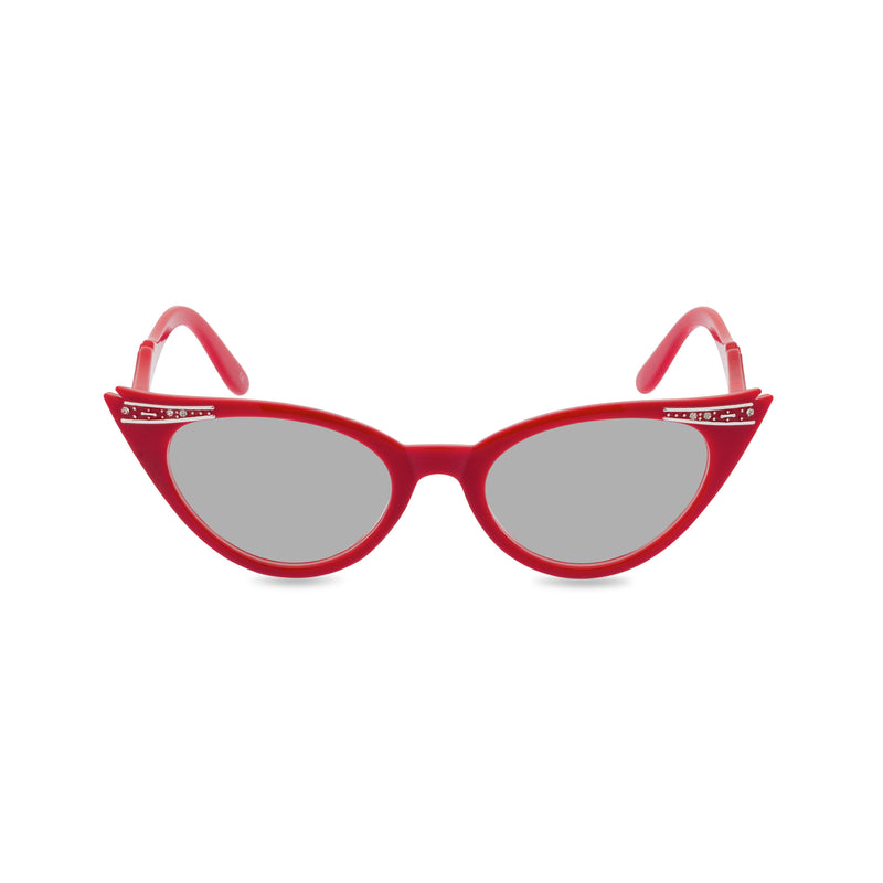 Betty sunglasses rocky red grey front