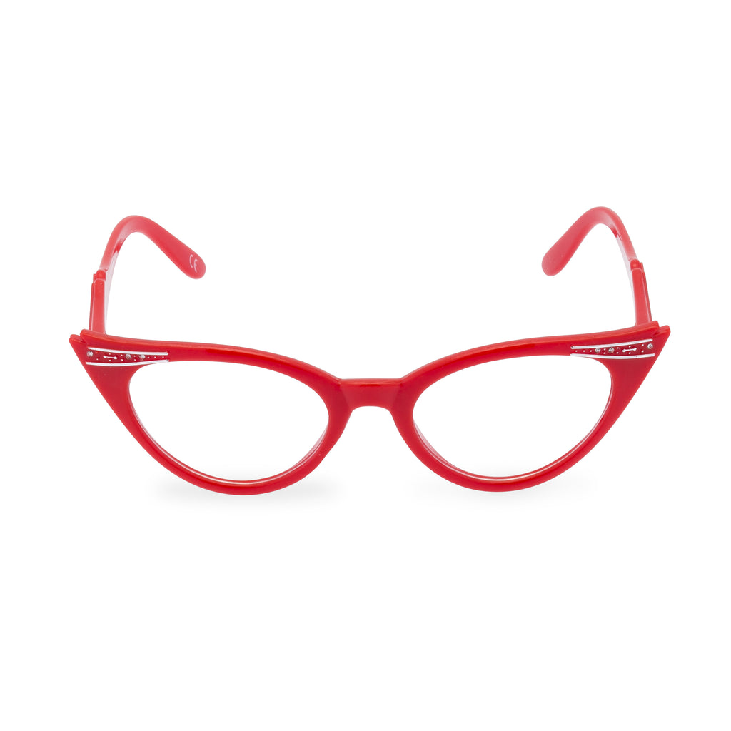 New Red Classic 1950/'s Rockabilly Glasses