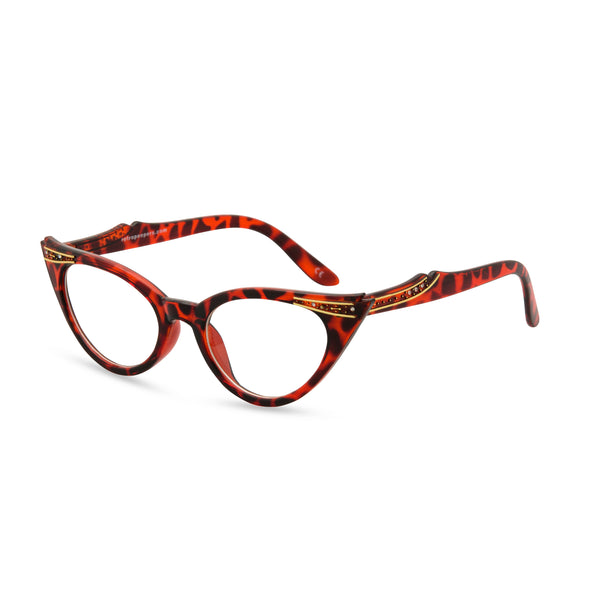 Retropeepers Betty cat eye glasses tortoiseshell - side view