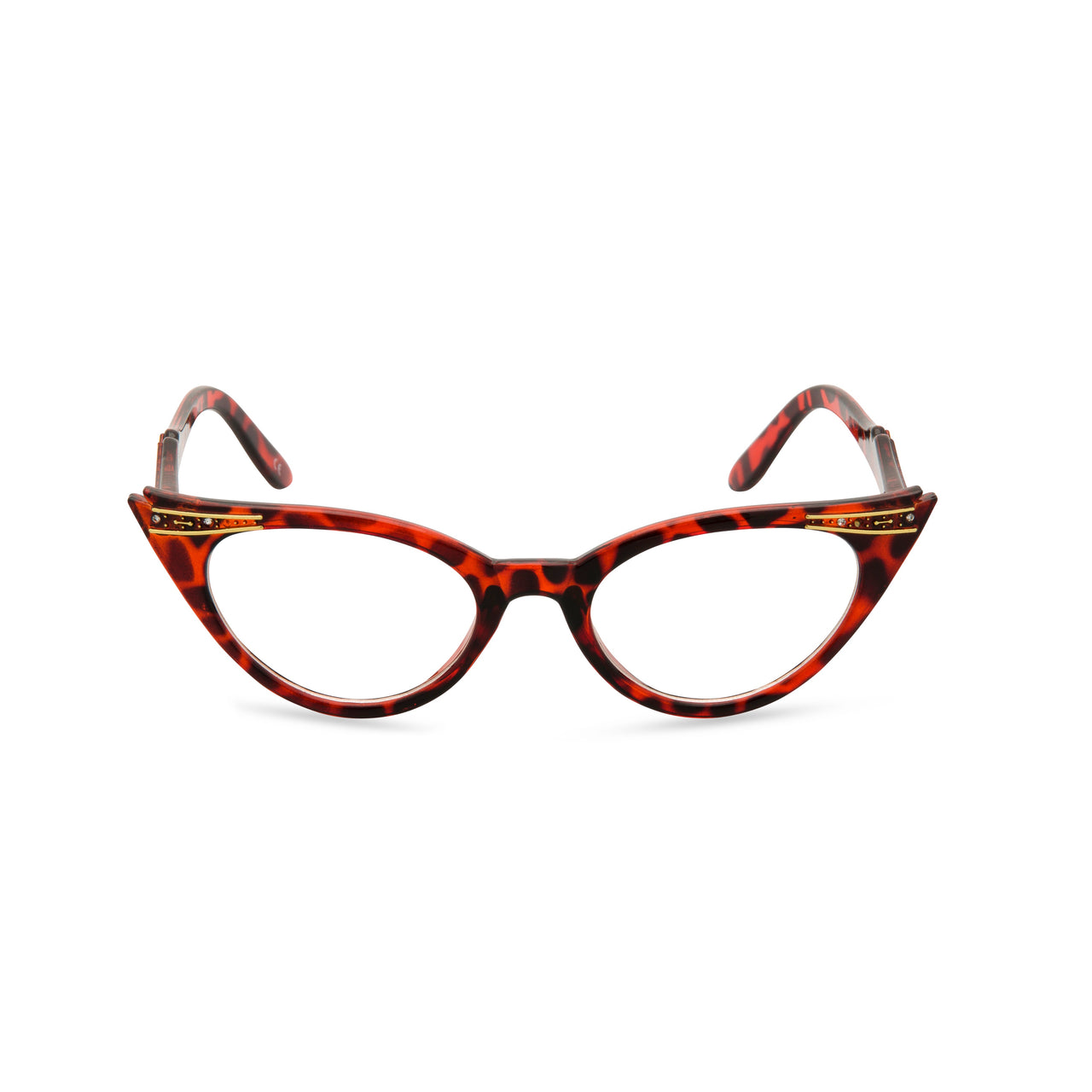 Retropeepers Betty cat eye glasses tortoiseshell - front view