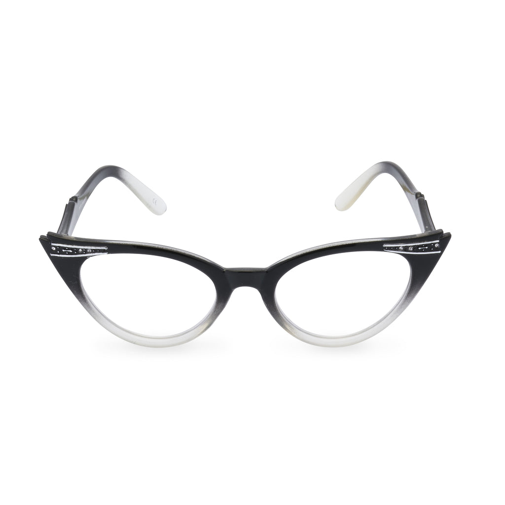 Betty Cat Eye Glasses - Graduated Black