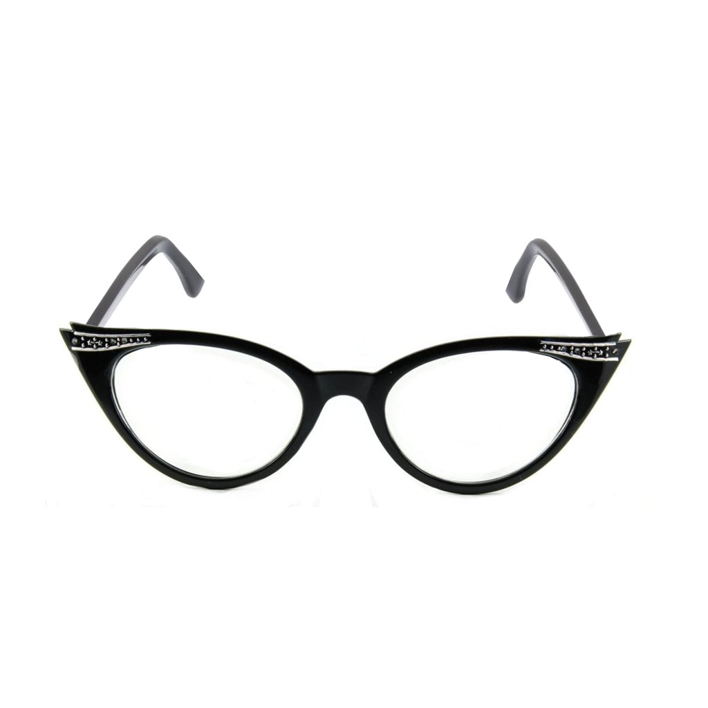 Betty Cat Eye Glasses - Black