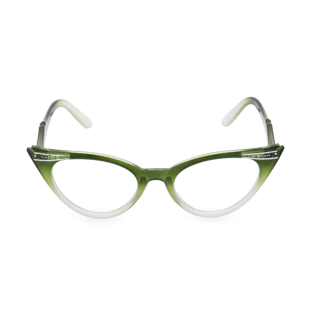 Betty Cat Eye Glasses - Graduated Emerald Green