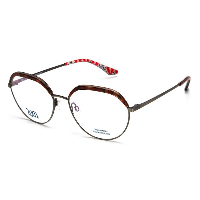 Bourne round frames in brown from the William Morris Gallery Collection, side view