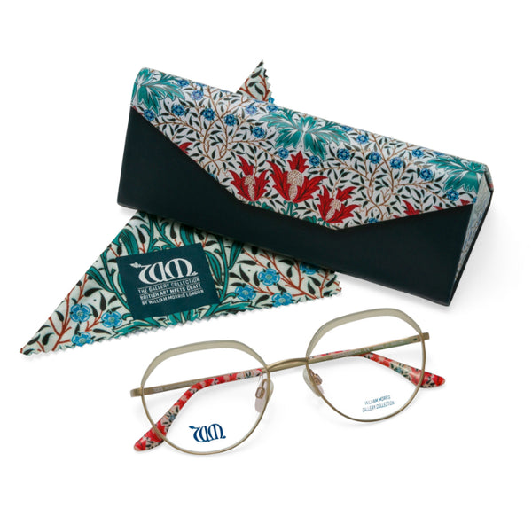 Bourne round frames with matching case and cloth from the William Morris Gallery Collection