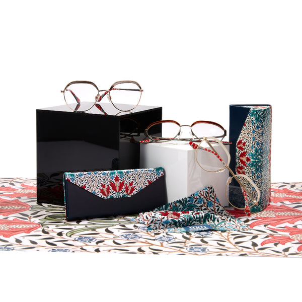 The Bourne range of frames with matching cases and cloths from the William Morris Gallery Collection