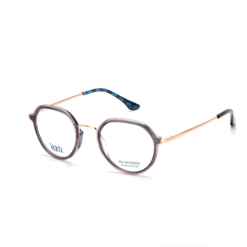 Brother Rabbit round frames in grey acetate from the William Morris Gallery Collection, side view