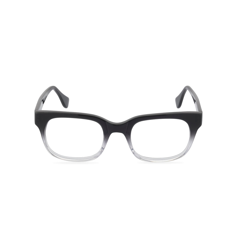 Caine Rectangular Glasses - Black / Crystal