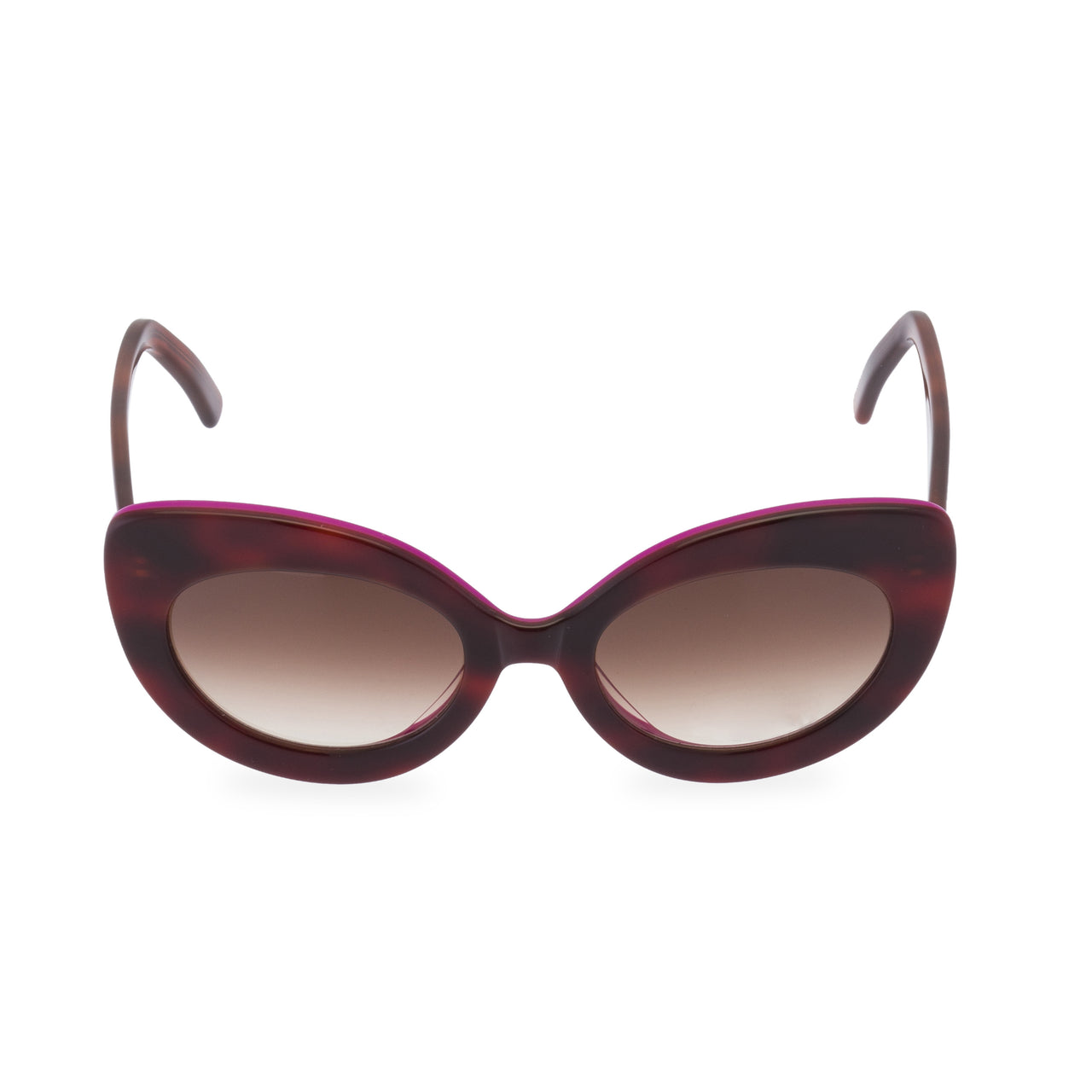Cate - Sunglasses Amber / Hot Pink