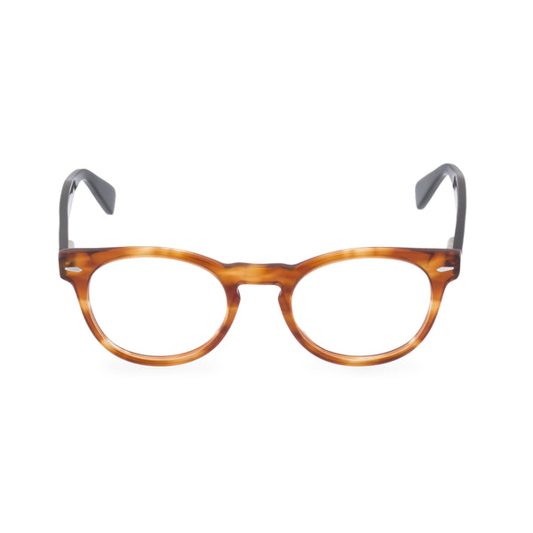 Clarke Round Glasses - Amber Black