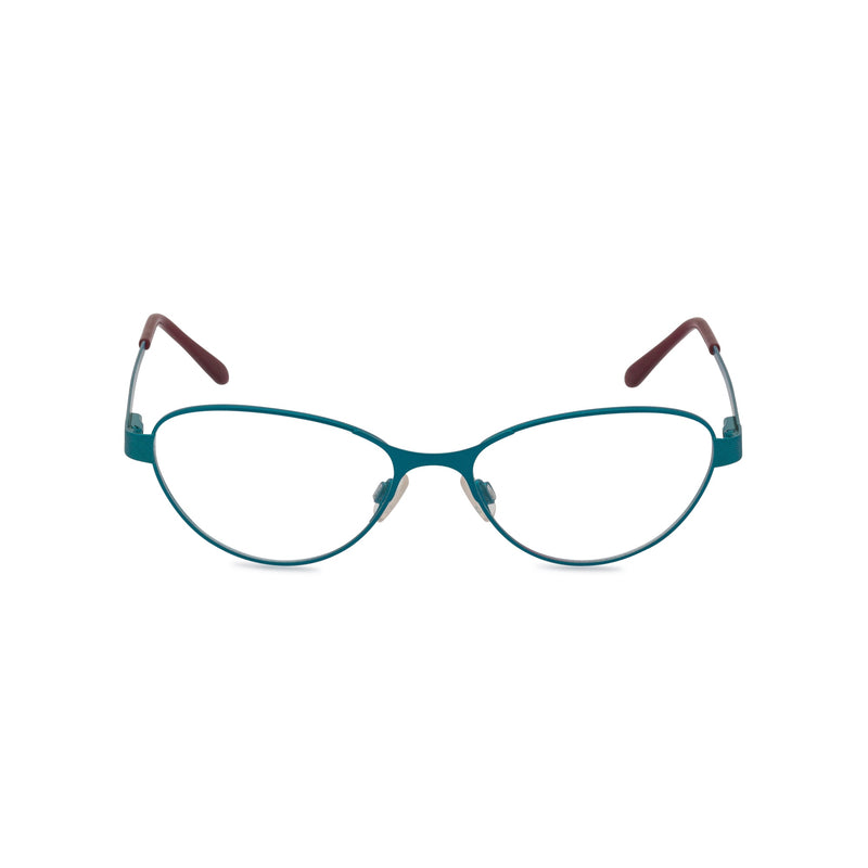 Claudine Cat Eye Glasses - Aqua