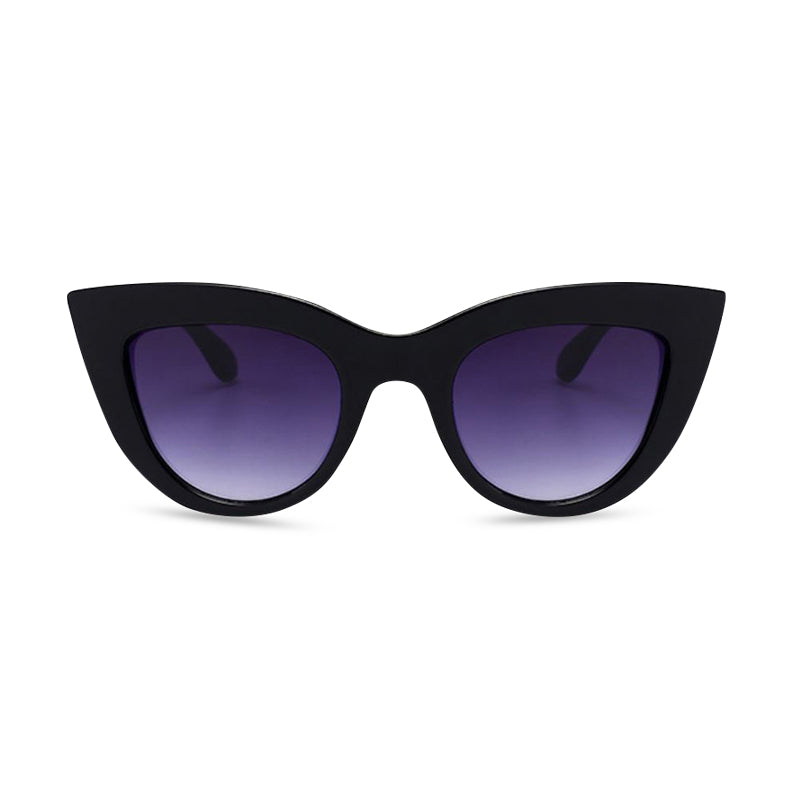 Cool Cat CatEye Sunglasses - Black