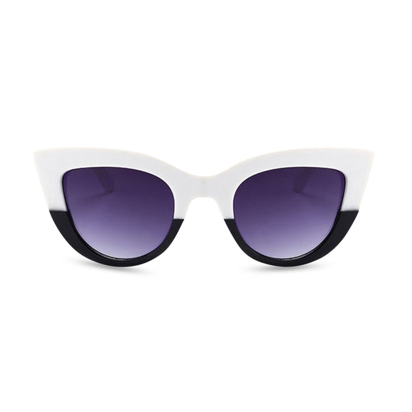 Cool Cat CatEye Sunglasses - White / Black