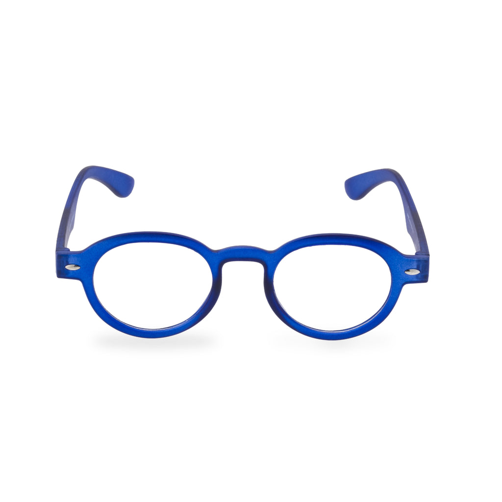 Cooper Round Glasses - Blue
