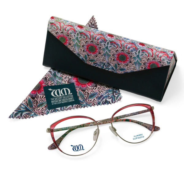 Frames come with case and cloth in Corncockle design, Rose