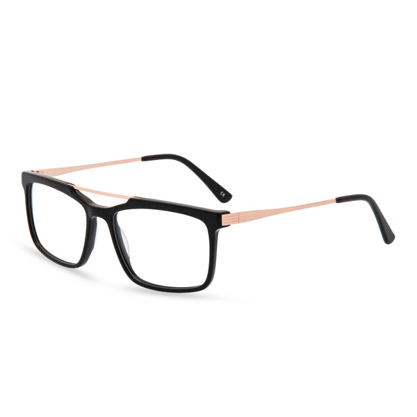 Dexter Rectangular Glasses - Black