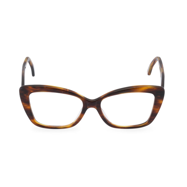 Dominique Cat Eye Glasses - Mid Amber
