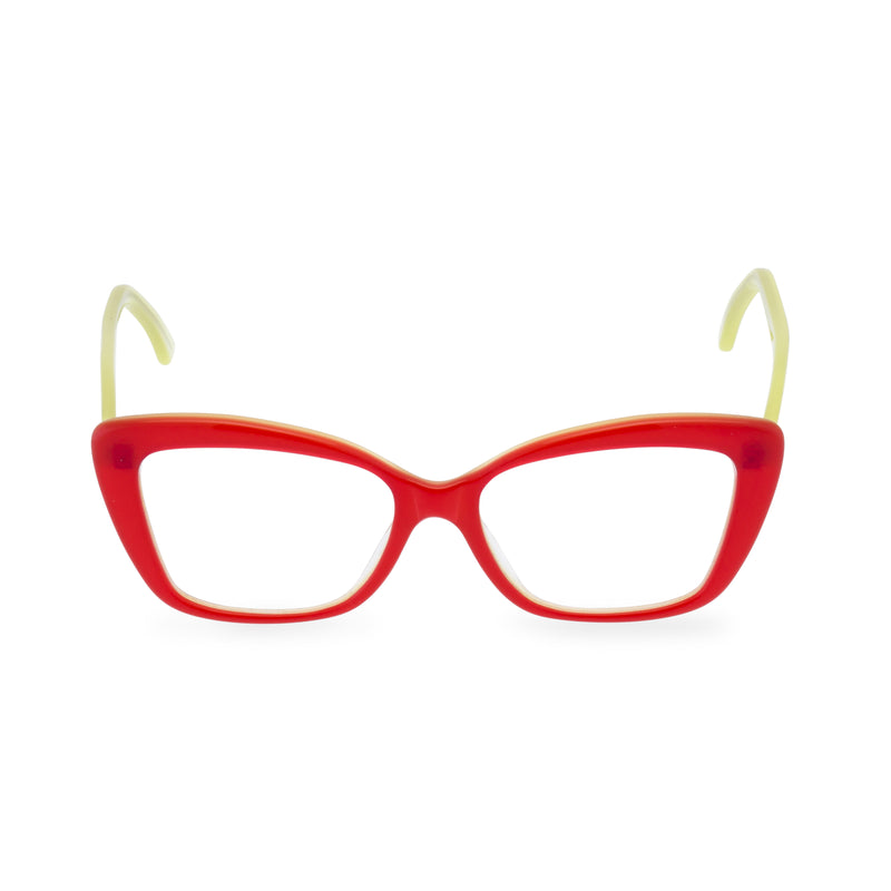 Dominique Cat Eye Glasses - Red Lime