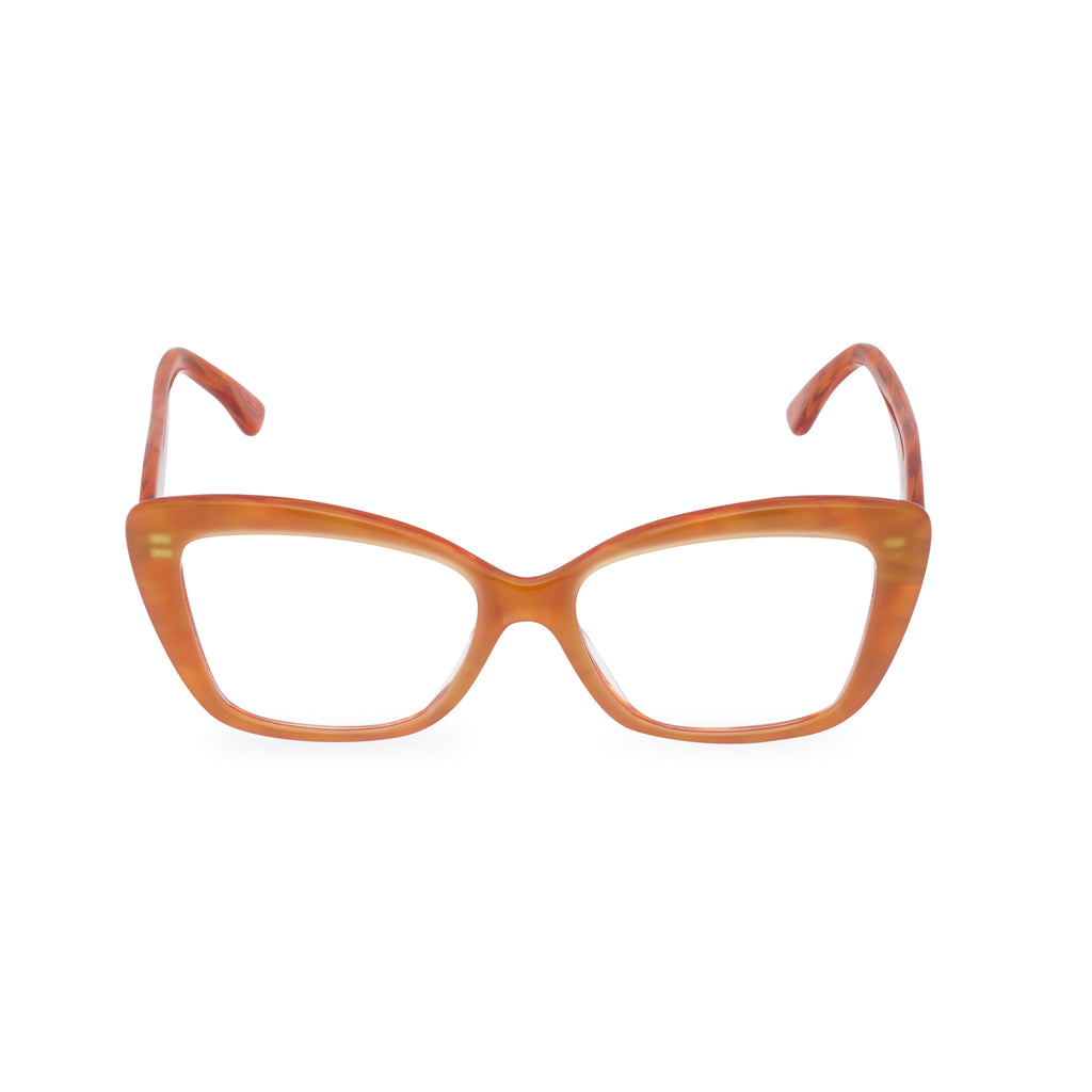 Dominique Cat Eye Glasses - Tangerine