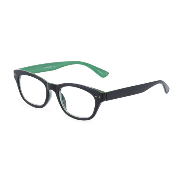 Experience Rectangular Glasses - Black /Green