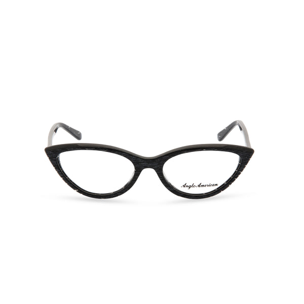 Anglo American Optical 'Fontana' - Cateye Glasses, Black Flash