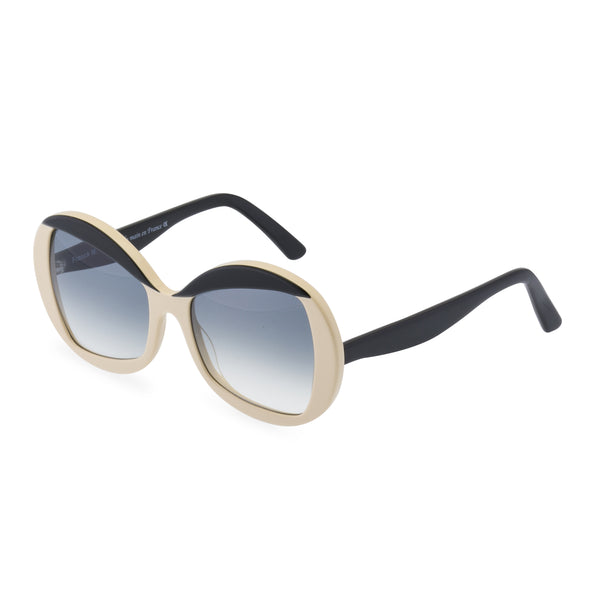 Francois Oval Sunglasses - Taupe / Black