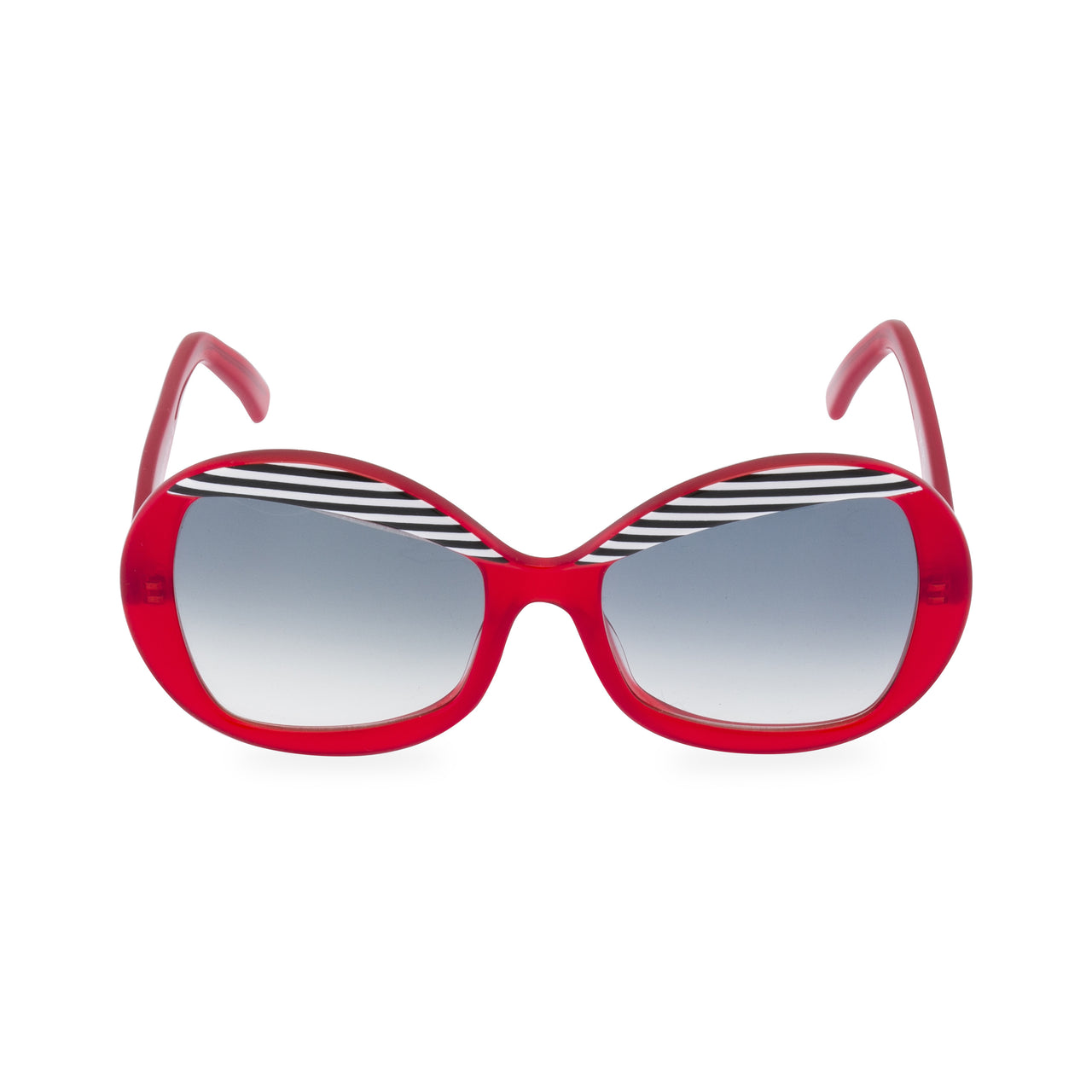 Francois - Sunglasses Red / Black Stripe
