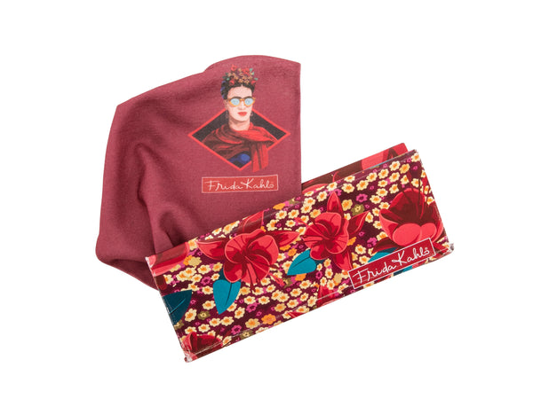 Frida Kahlo Eyeglass case fuchsia