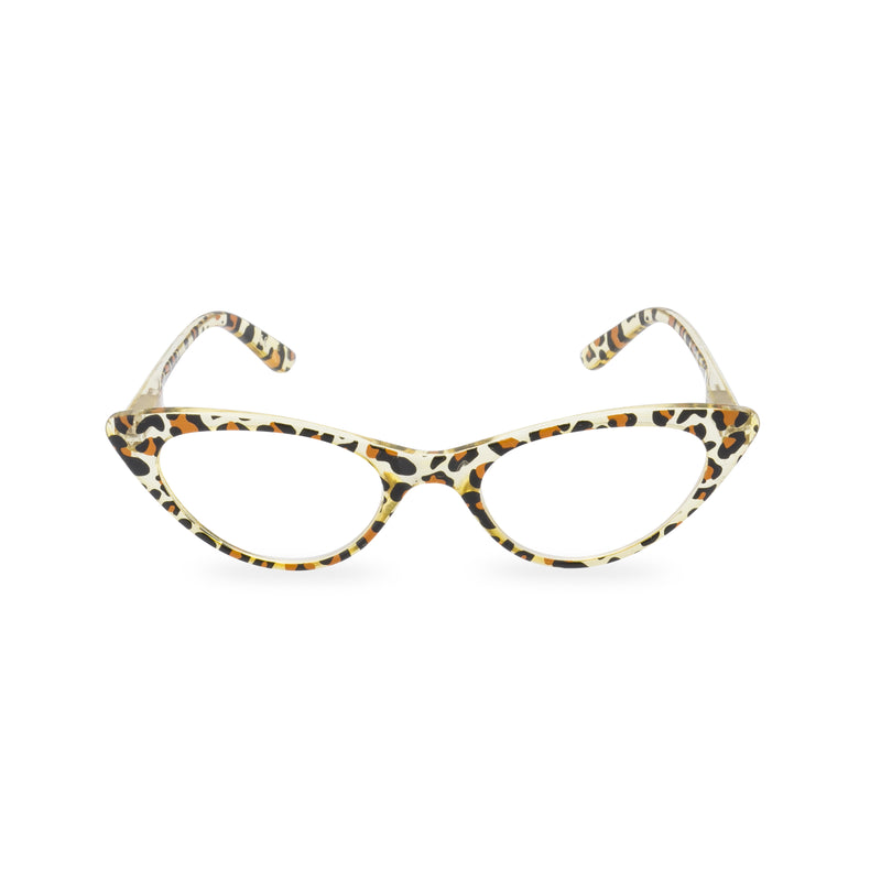 Gidget Cat Eye Glasses - Crystal Leopard