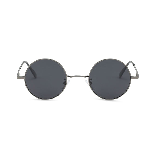Gripweed Round Sunglasses - Gunmetal