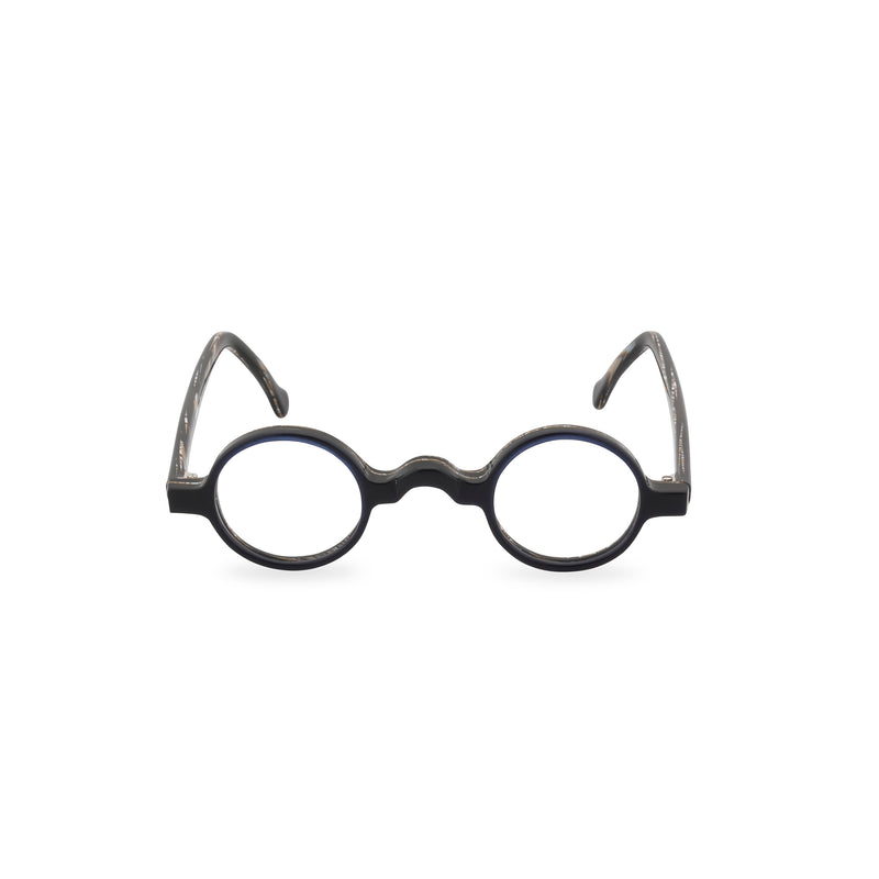 Groucho Round Glasses - Black Swirl