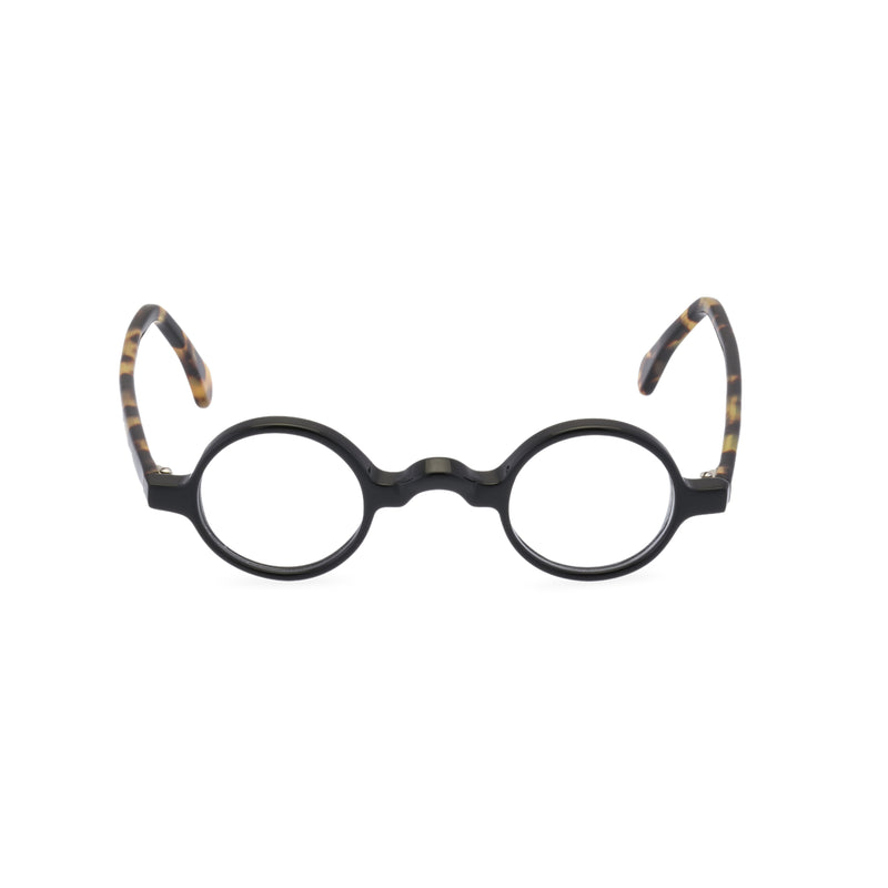 Groucho Round Glasses - Black / Tortoise