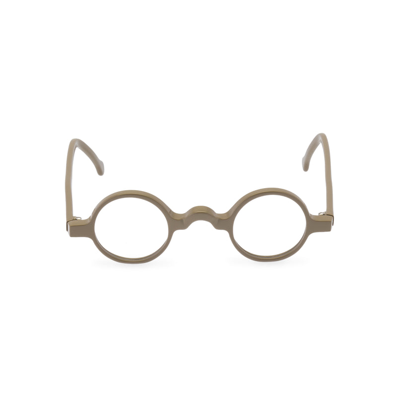 Groucho Round Glasses - Taupe