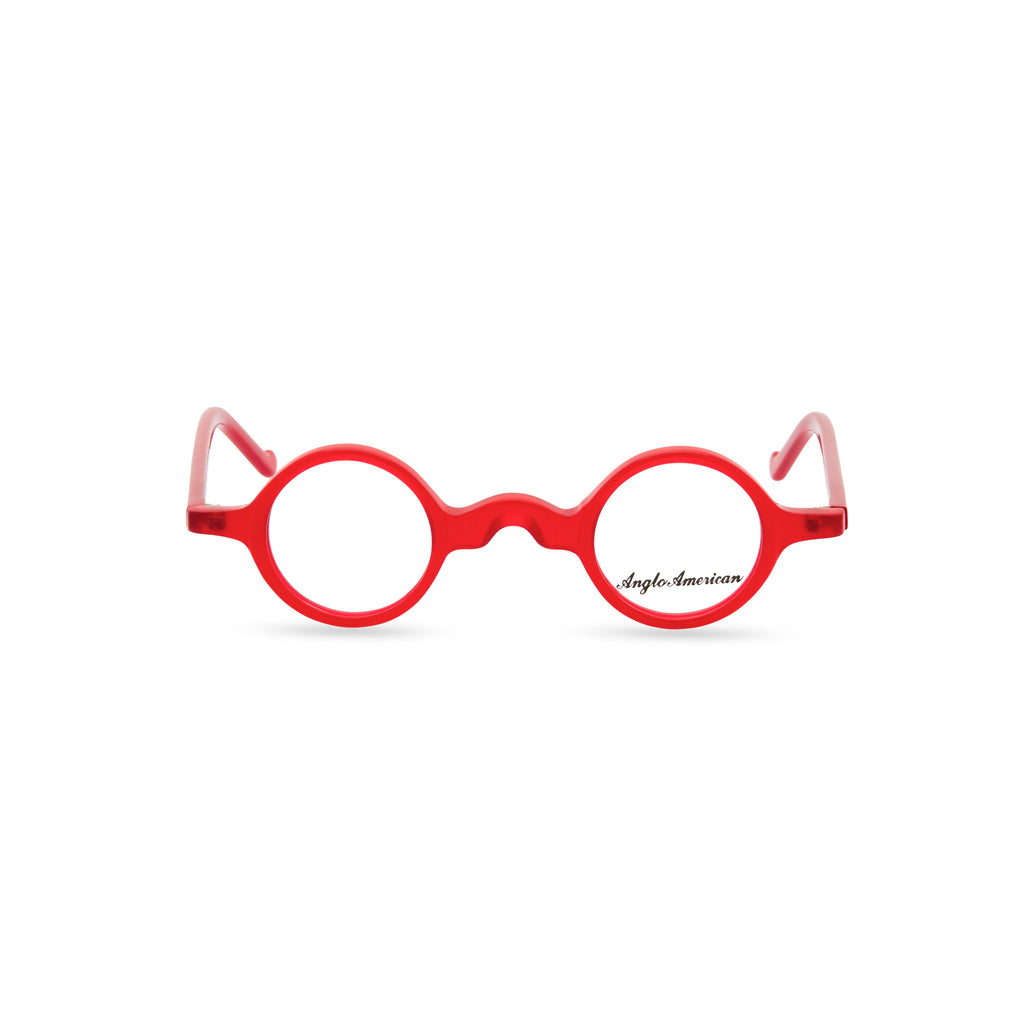 Anglo American Optical 'Groucho' - Round Glasses, Red