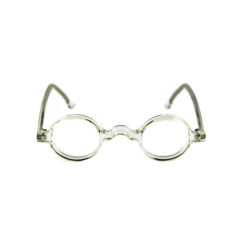 Groucho Round Glasses - Crystal