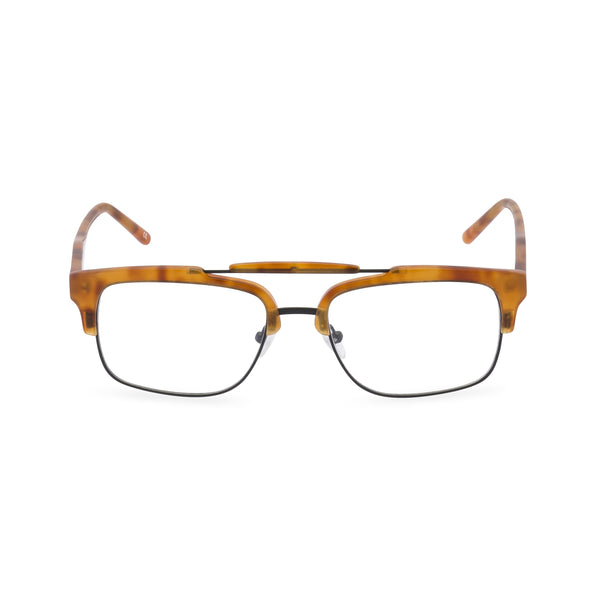 Hedley Rectangular Glasses - Vintage Amber
