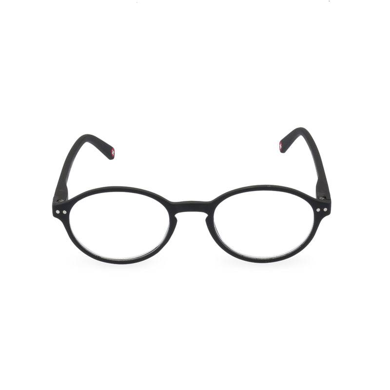 Hemingway Oval Glasses - Black