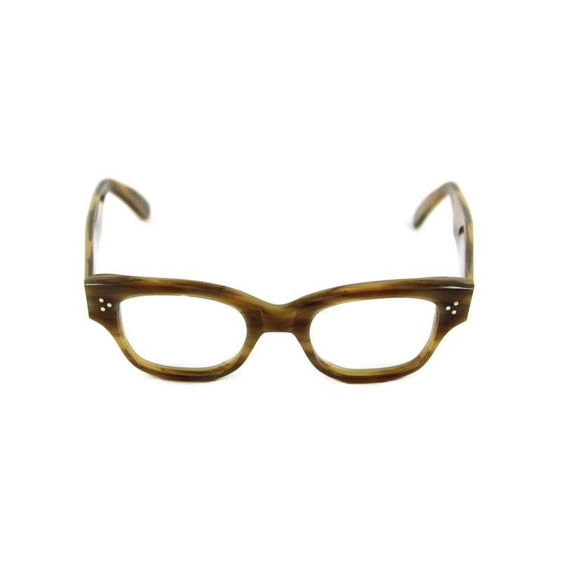 Howard Large Rectangular Glasses - Havana Olive