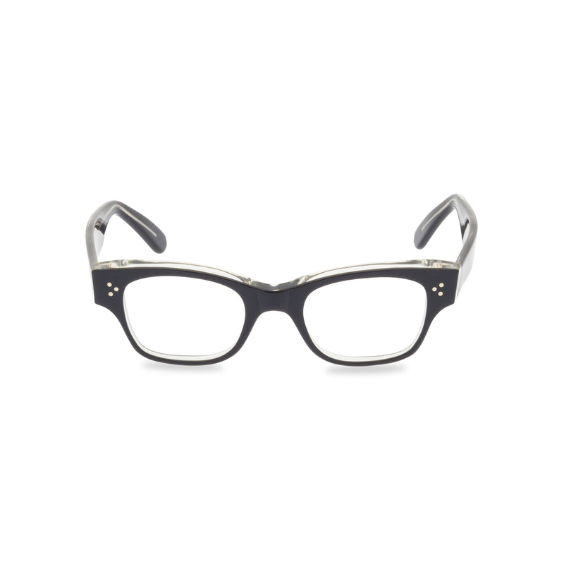 Howard Rectangular Glasses - Black Crystal