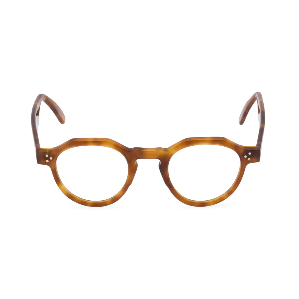 Hugh Round Glasses- Liquid Amber