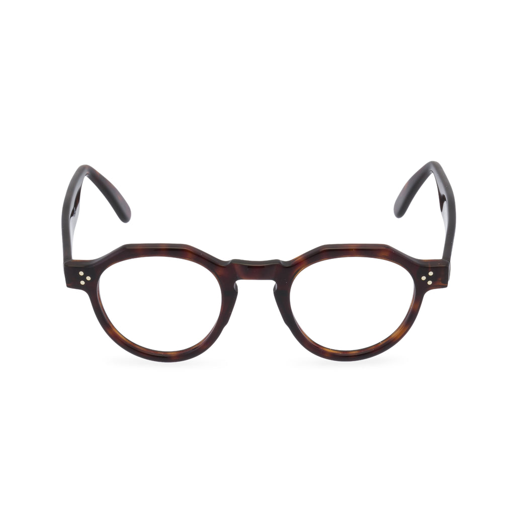 Hugh Round Glasses - Dark Amber