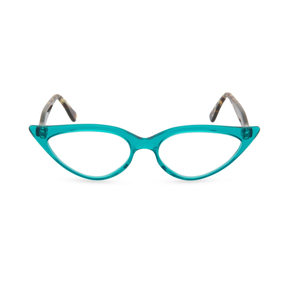 Isabelle Cat Eye Glasses - Crystal Turquoise