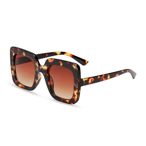 Jackie Square Sunglasses - Turtle
