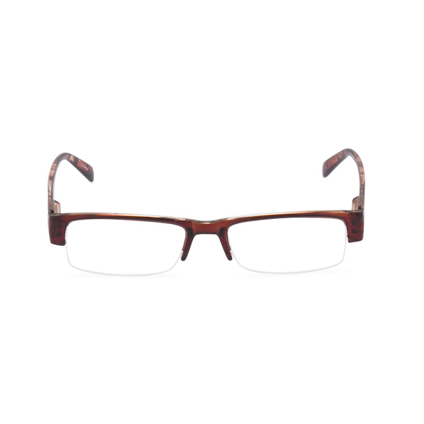 James Rectangular Glasses - Brown Snake