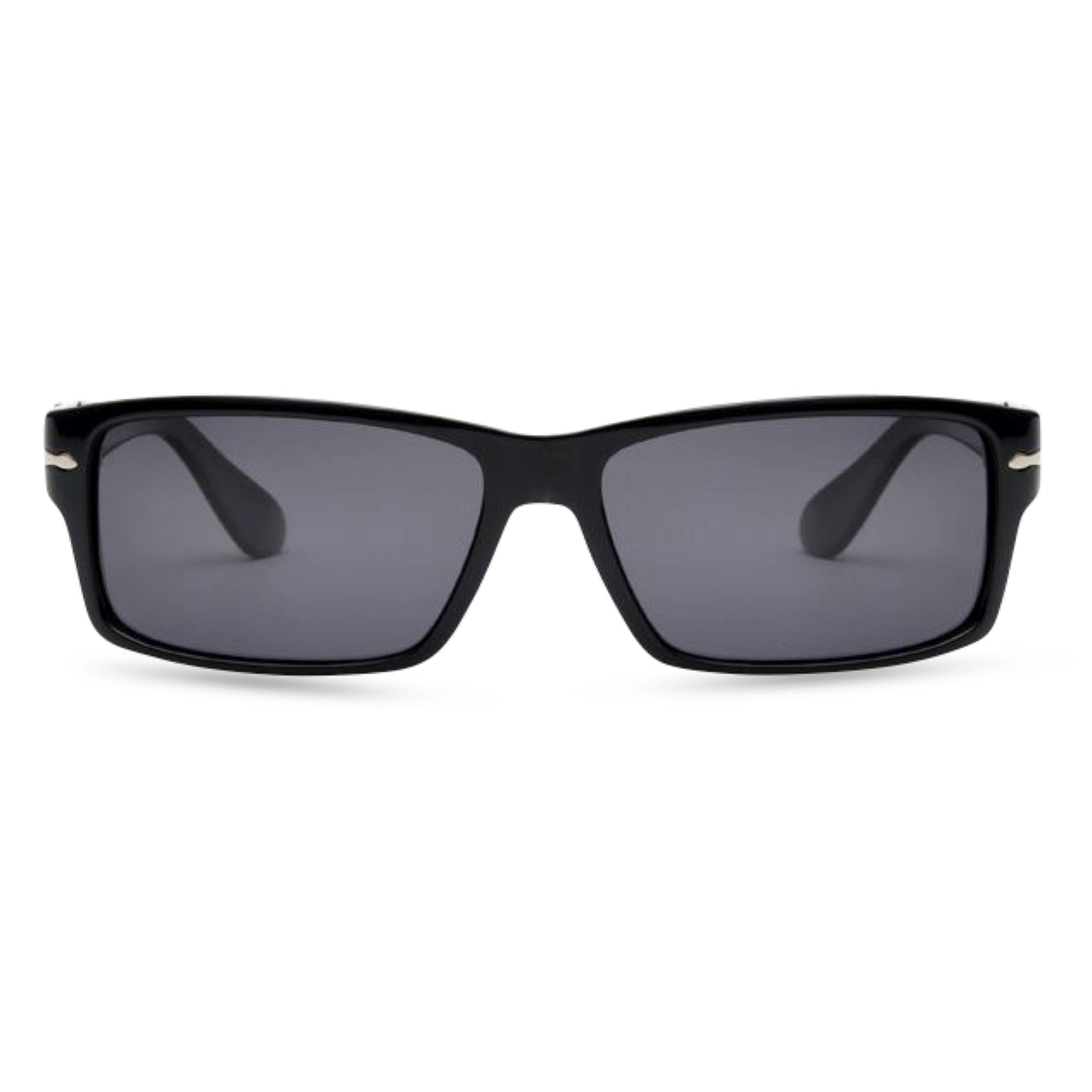 James B - Sunglasses Shiny Black / Grey Lens