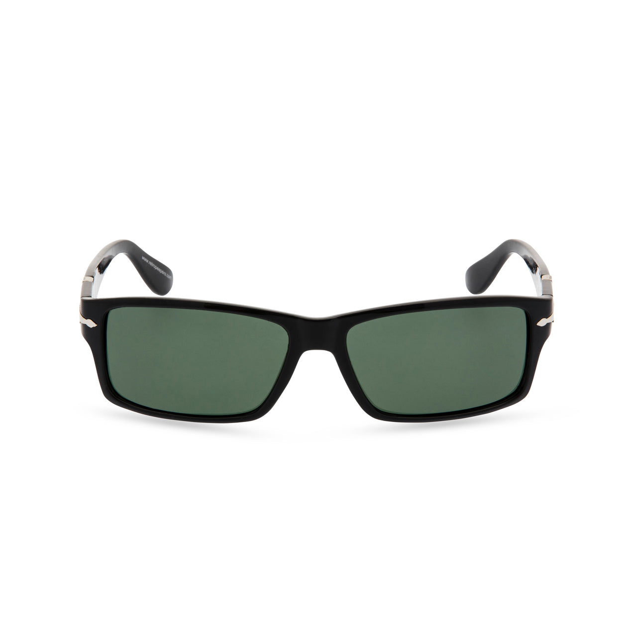 James B - Sunglasses Shiny Black / Green lens