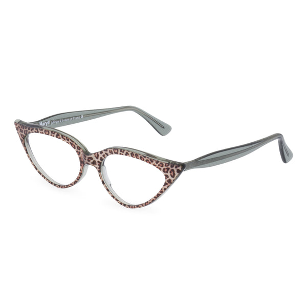 Retropeepers Jeanne Jaguar, 50's style cat eye glasses, side view